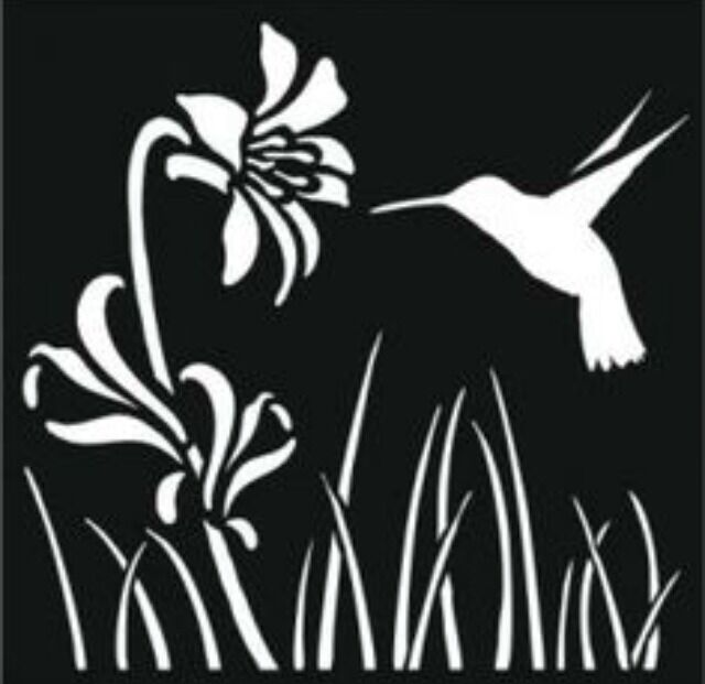 Hummingbird and Flower Car White Vinyl Decal Sticker Funny Truck Diesel Laptop