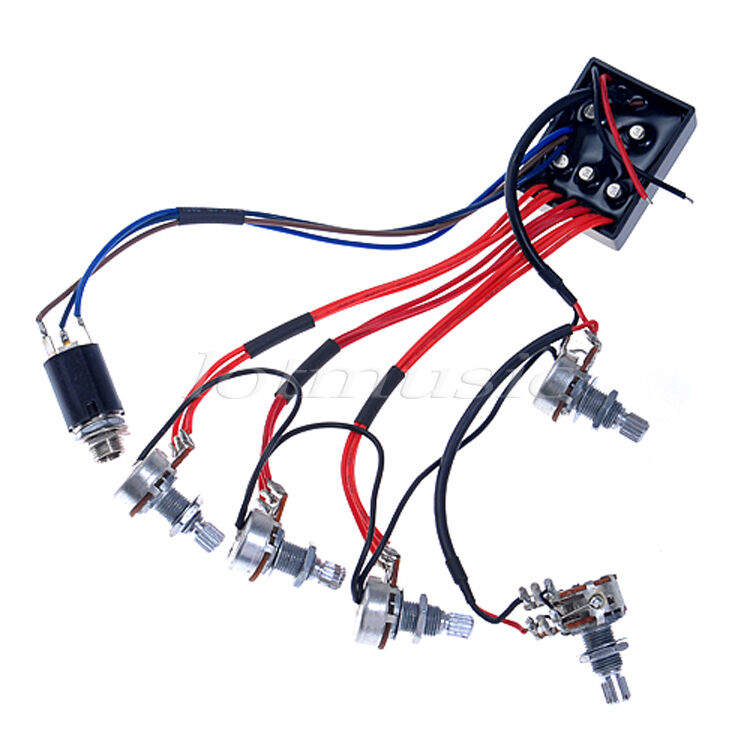 band wiring harness for 79 active guitar bass eq preamp circuit tone-volume pots ... chevy truck starter wiring diagram for 79