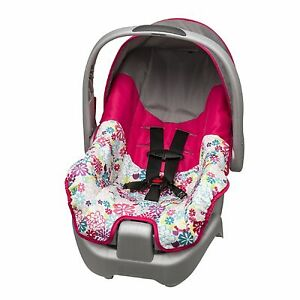 Evenflo car seat includes base newborn infant baby girl pink flowers image is loading evenflo car seat includes base newborn infant baby mightylinksfo