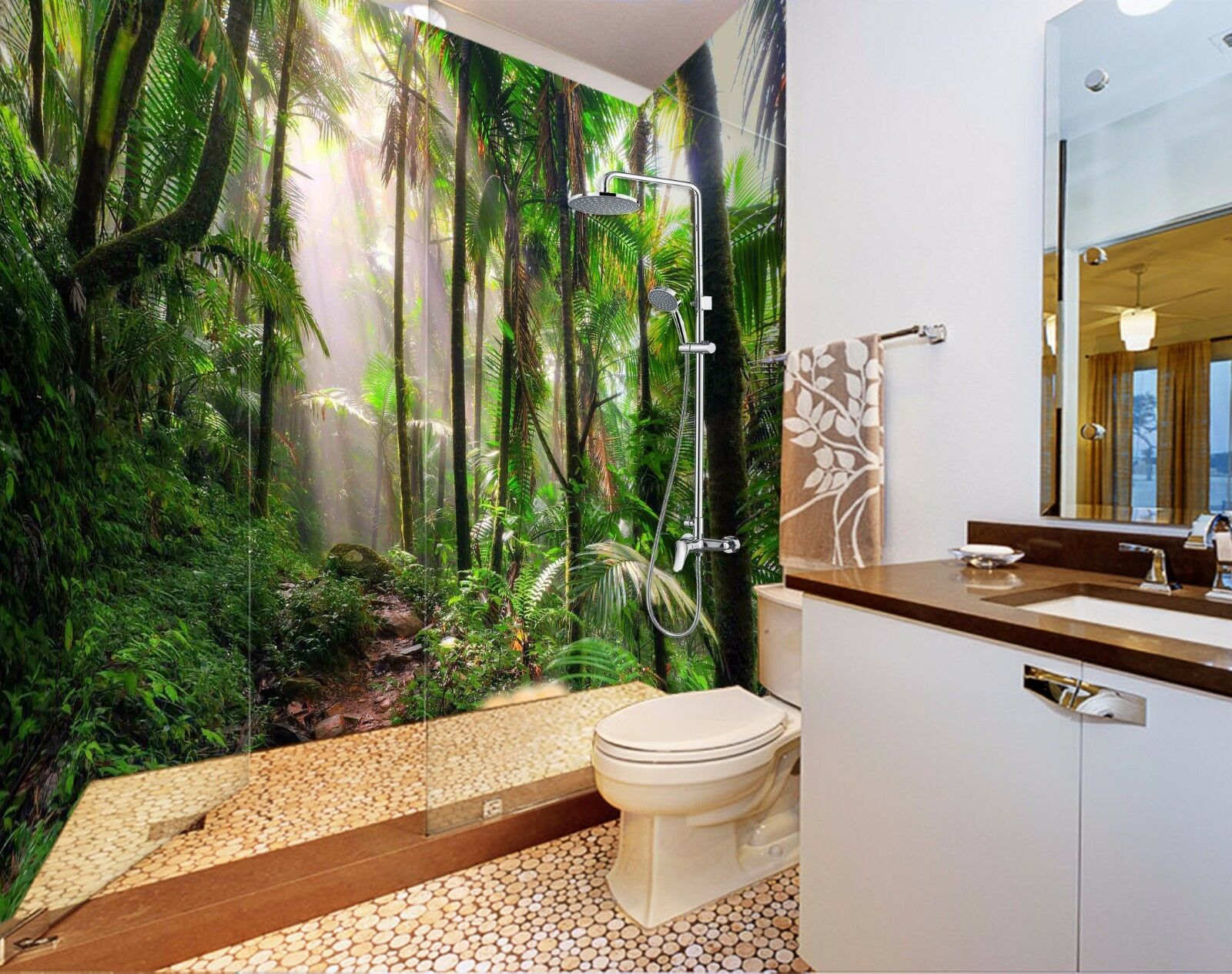 3D Jungle Tree 4268 WallPaper Bathroom Print Decal Wall Deco AJ WALLPAPER AU