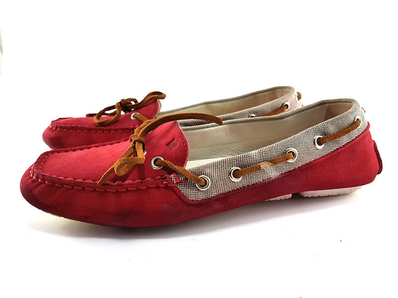 Fratelli Rossetti Red Suede Loafers, Women's shoes Size EU 39   US 9
