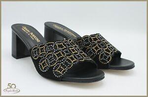 Pasquini sandali da donna eleganti per cerimonia con tacco strass camoscio sabot