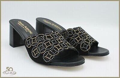 Temperato Pasquini Sandali Da Donna Eleganti Per Cerimonia Con Tacco Strass Camoscio Sabot Materiali Accuratamente Selezionati