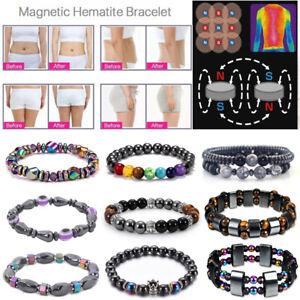 Magnetic Healing Bracelet Hematite Tiger Eye Arthritis Pain Relief Weight Loss