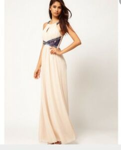 prevalent los angeles browse latest collections Details about New Ladies Womens Little Mistress Beige Beaded Halterneck  Maxi Dress UK 12