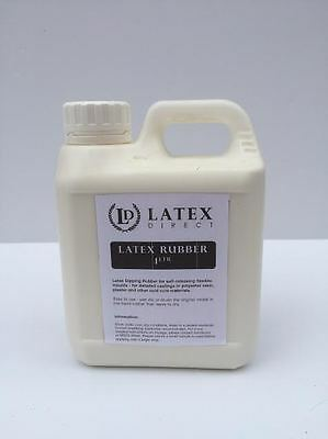 1 Ltr Liquid Latex Rubber Mould Making / Dipping / Crafts/ Mask - *SKIN SAFE*