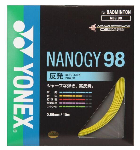 YONEX Badminton Strings Nanogy 98 0.66mm NBG98 Yellow 10m ...