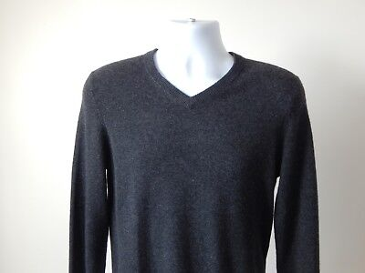 NWT $245 Men's TAHARI PURE LUXE 100% CASHMERE V NECK Sweater CHARCOAL SMALL | eBay