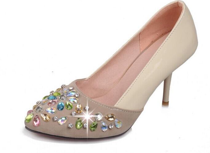 Décollte Chaussures éscarpins femme aiguille aiguille aiguille talon 8.5 cm pierres beige 8870 | D'être Très Apprécié Et Loué Par Les Consommateurs  533b9f