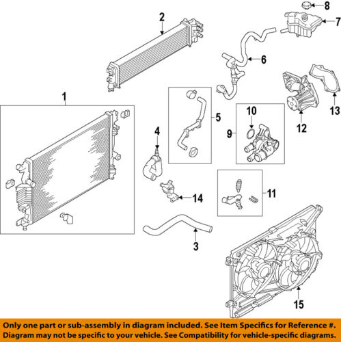 FORD OEM 14-18 Fusion Auxiliary Water Pump DS7Z8C419C