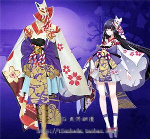 Image is loading Japanese-Onmyoji-Game-Yuki-Onna-skin-ver-Kimono-