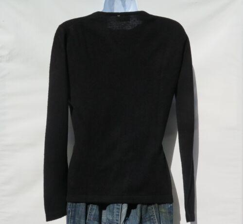 "100/% Cashmere|Mens|/""V Neck/""|Knit|Sweater|B+|Himalayan|Black|Size S-M"