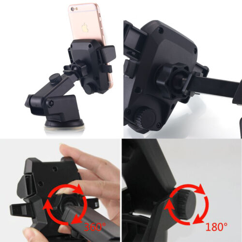 Car Windshield 360° Rotatable Mount Holder Stand Cradle For Mobile Phones GPS