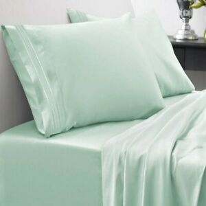 Egyptian-Comfort-1800-Count-4-Piece-Deep-Pocket-Bed-Sheet-Set-ALL-SIZE-Green