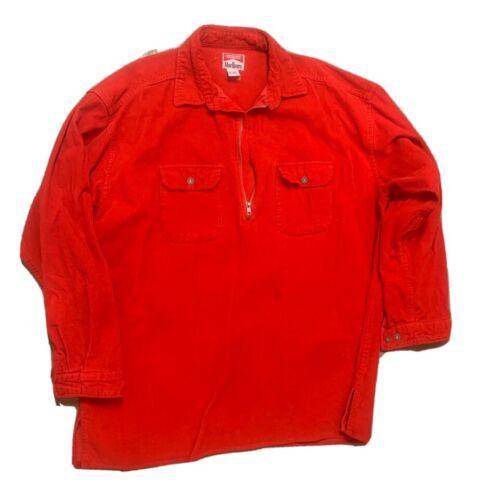 Vintage Marlboro corduroy quarter zip red XXL