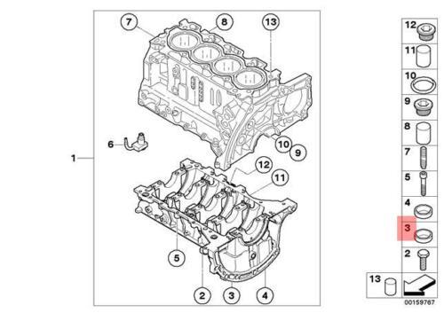 Genuine BMW F20 F20N F21 F21N F30 Sealing Blind Plug D=18MM OEM 11117526568
