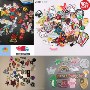 Random-Fashion-Patches-Girls-Kids-Iron-On-For-Clothing-Applique-Sticker-DIY-Lot