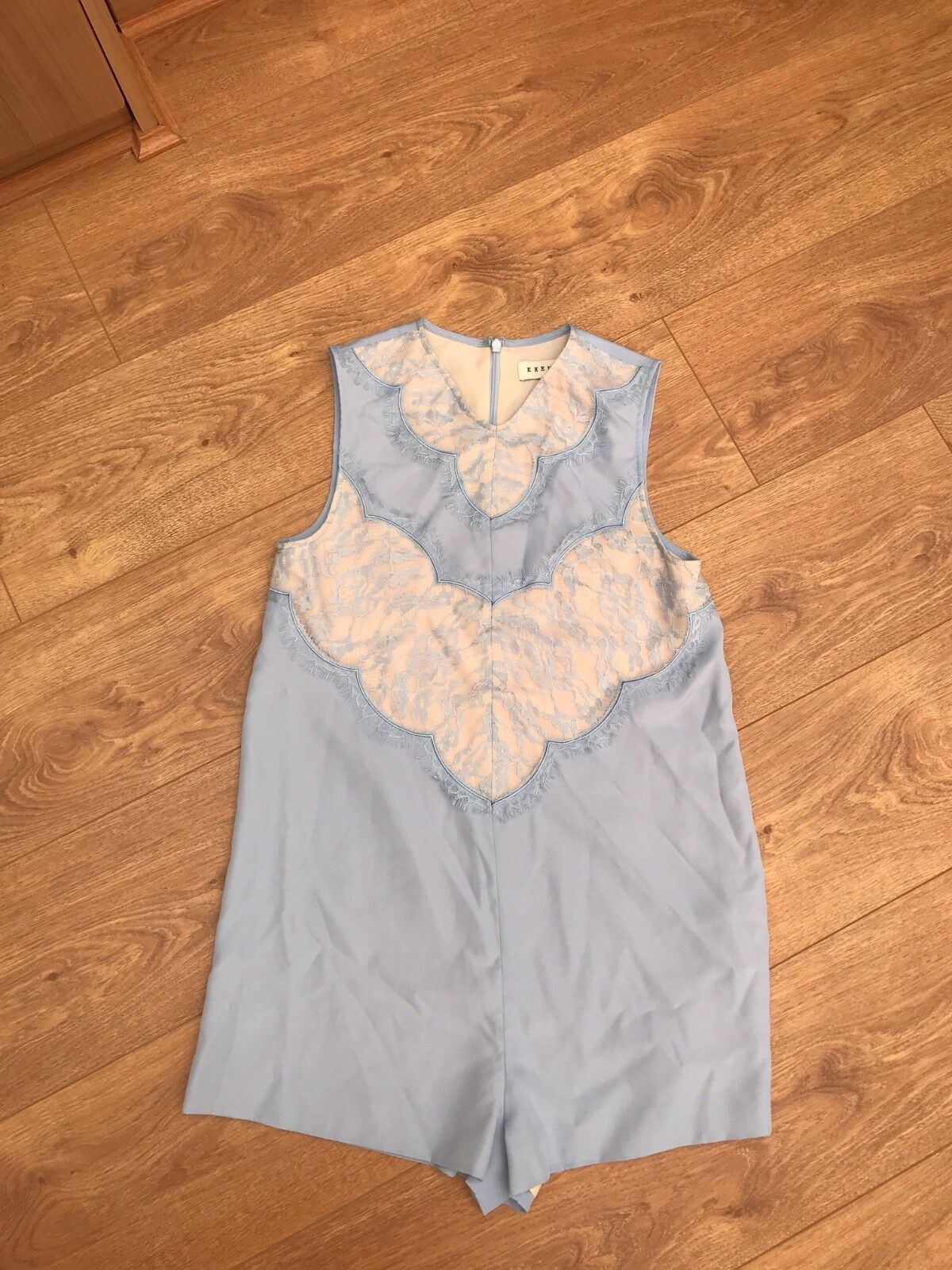 Keepsake playsuit bluee with lace size xs
