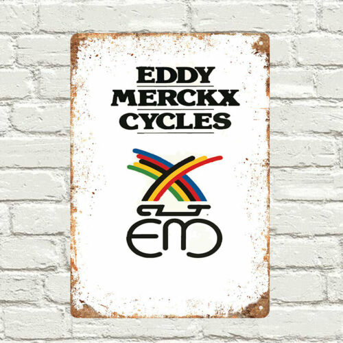 Eddy Merckx Cycles cycling metal Wall Sign Retro Vintage Advertisement