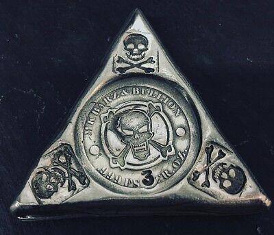 """3 Troy Oz .999 FS MK BarZ /"""" Captain/'s Triangle/"""" LTD"""