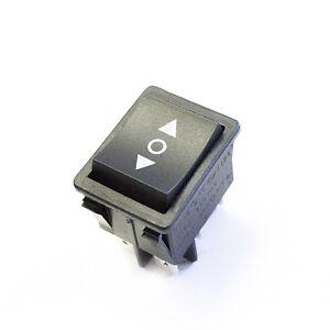 16 amp reverse polarity rocker switch dc motor control for Electric motor reversing switch