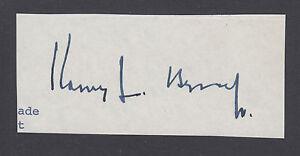 Harry F. Byrd, Jr., US Senator from Virginia, clipped signature