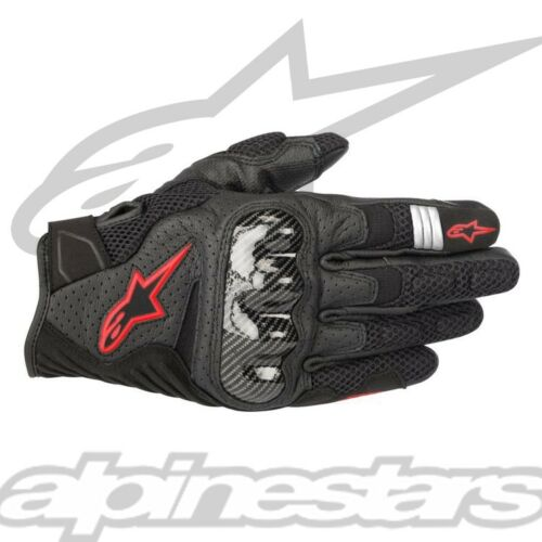 Alpinestars Black /& Red SMX-1 Air V2 Leather Mesh Motorcycle Gloves S-3XL