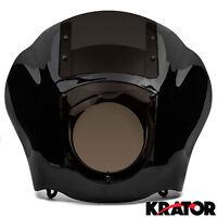 Black & Smoke Quarter Fairing Windshield Kit For Harley Davidson Xl Fxr Dyna