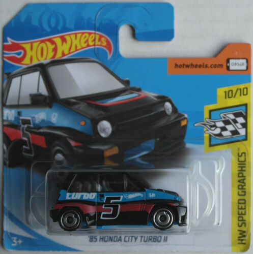 Spielzeugautos Hot Wheels 1985 Honda City Turbo II schwarz Neu/OVP Kleinwagen Auto Car black 85
