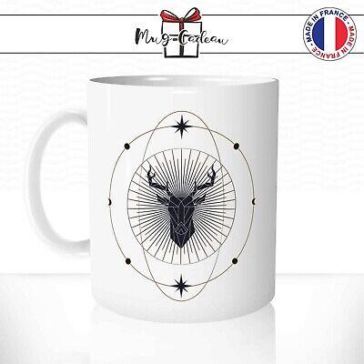 Mug Cerf Origami Etoiles Lunes Dessin Céleste Animal Original Tasse Personnalisé