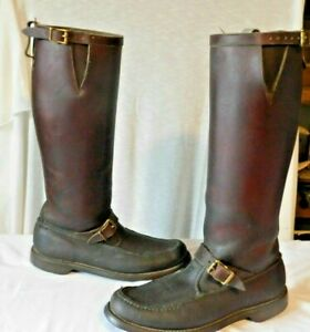 Vintage GOKEY Leather Botte Sauvage Snake Proof Boots Mens 11  (310 1151 7.8)