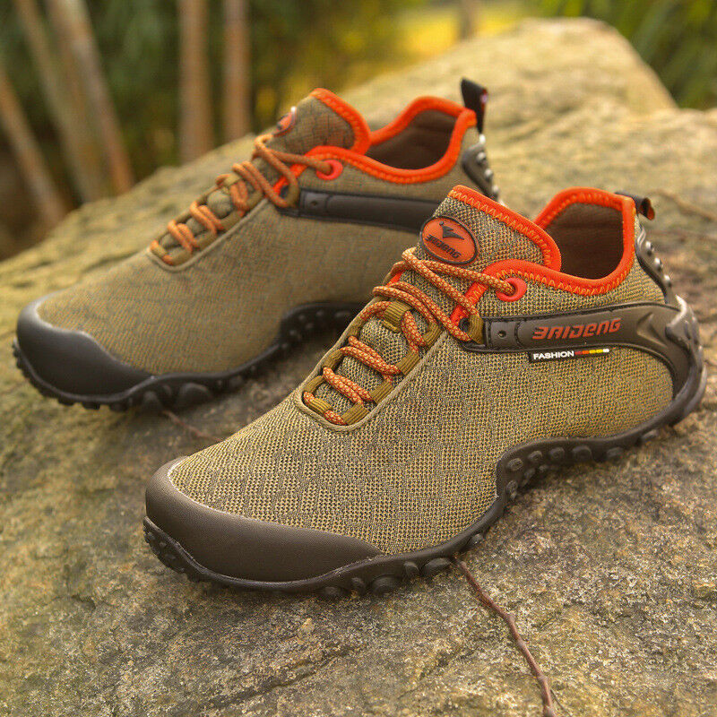Men's Mesh Hiking shoes Outdoor Travel Non-slip Sneakers Casual Running Athletic