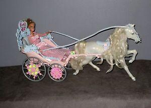 Carosse cal che barbie avec cheval et poup e ebay - Caleche barbie ...
