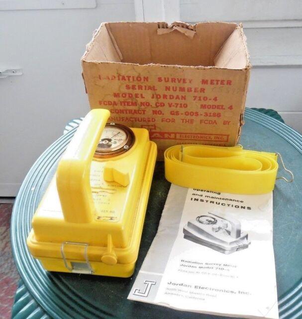 Radiation Survey Meter Jordan Model 710-4 CD V-710 w/Instructions,Box Gieger,