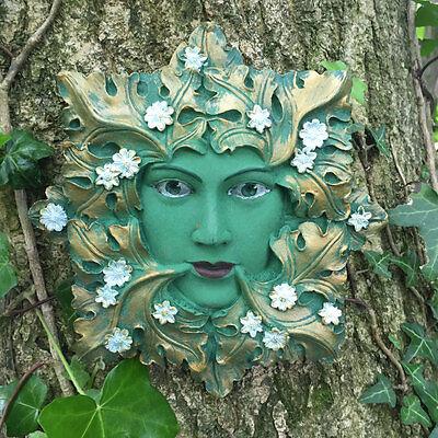 "Home & Garden Responsible ""green Flora"" Wall Plaque Green Man Wicca Pagan Greenman Brand New & Boxed Other Garden Décor"