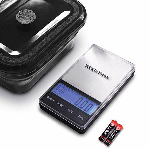 WEIGHTMAN Digital Gram Scale 300 x 0.01g Pocket Scale with 600ml Silicone Food