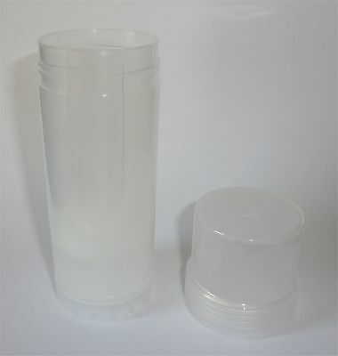 Natural Twist Up Lotion Tube Base+Lid 2-oz Lot Empty Plastic Rigid Containers