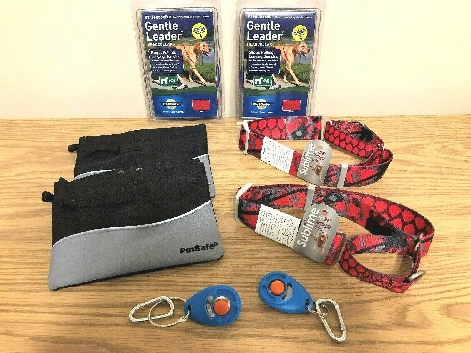 Dog Training Bundle (for 2 Dogs) Leaders   Collars   Training Accessories L@@K