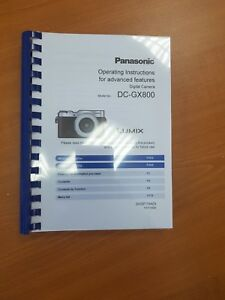 Details about PANASONIC LUMIX DMC GX800 INSTRUCTION MANUAL USER GUIDE  PRINTED 324 PAGES (A5)