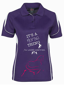 HDC-LADIES-COOLDRI-034-HORSE-THING-034-POLO-ALL-SIZES-AND-COLOURS