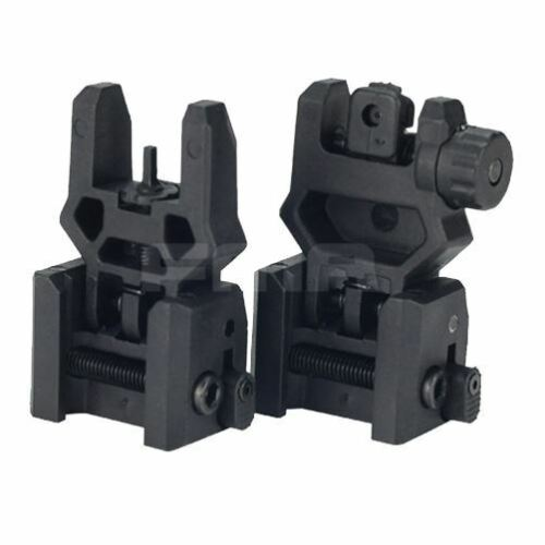 AIRSOFT GEN 3 BACK UP SIGHTS M SERIES IRON SIGHT BLACK FLIP UP