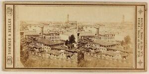 Firenze-S-Miniato-Italia-Foto-Sommer-amp-Behles-Stereo-PL56L-Vintage-Albumina