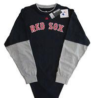 Boston Red Sox Majestic MLB Big & Tall Double Play Long Sleeve T-Shirt - 2X -NWT