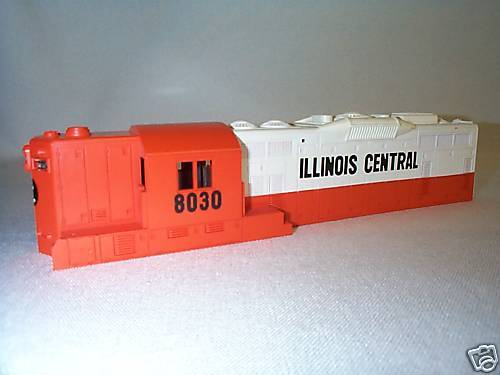 Lionel 8030 Illinois Central GP7 GP9 Shell Part EX