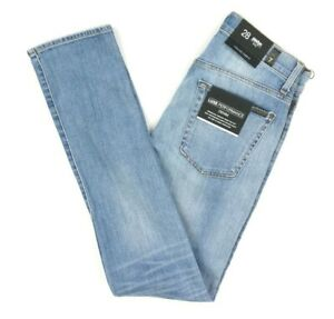 NEW-7-FOR-ALL-MANKIND-LIGHT-WASH-ITALIAN-FABRIC-SKINNY-FIT-PAXTYN-JEANS-SIZE-28