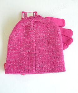 5dab94bd231 HELLO KITTY Pink   Silver Winter Set Beanie Hat   Gloves NWT SANRIO OFSM