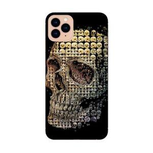 Coque Iphone 12 PRO MAX mort 24 Or noir dore