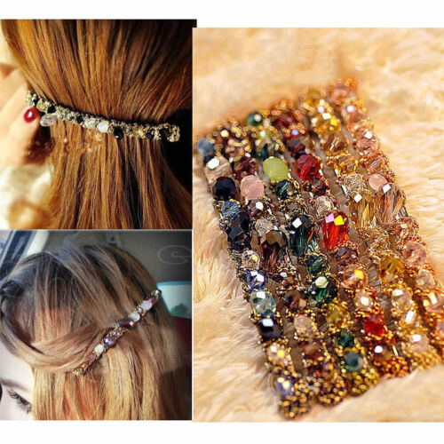 Cute Womens Korean  Crystal Rhinestone Barrette Hairpin Hair Clips Accessories d
