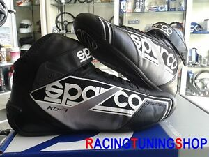 SCARPE-KART-SPARCO-NEW-SHADOW-kb7-46-black-KARTING-RACE-BOOTS-SHOES-SCHUHE