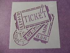 """Viva Decor: Schablone """"Vintage / Steampunk - Ticket Air Mail""""  14 x 14 cm"""